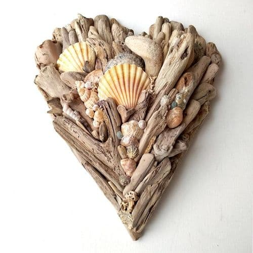 Large Driftwood Heart
