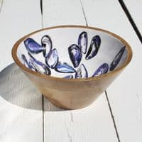 Mussel Shell - Wooden Salad Bowl