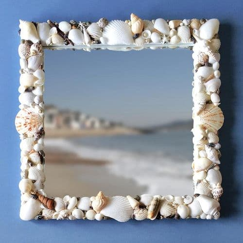 Natural Seashell Mirror