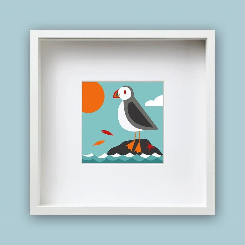 Puffin – Framed Print