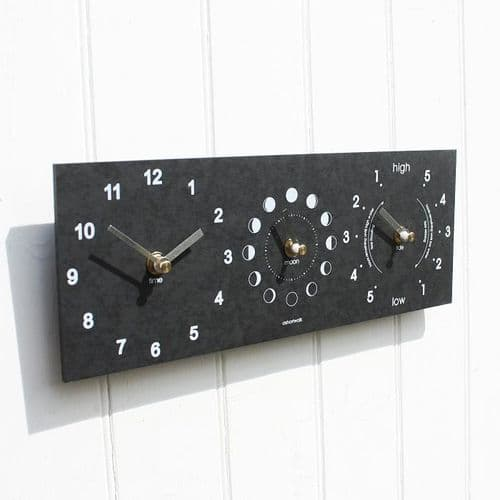 Recycled Moon Phase Time & Tide Clock