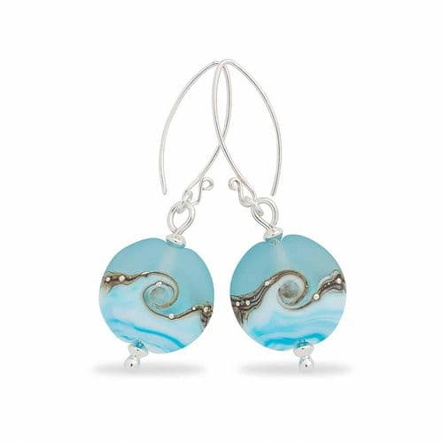 Sea Breeze Glass Earrings