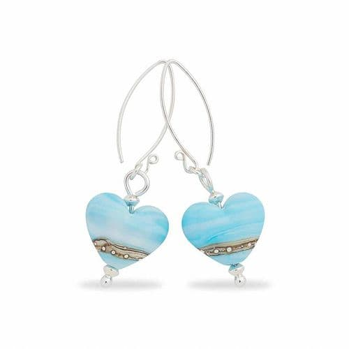 Sea Breeze Heart Shaped Earrings