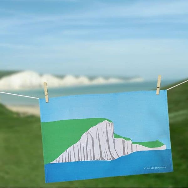 Seven Sisters Tea Towel | Seaside Tea Towel | Sophie Mutter