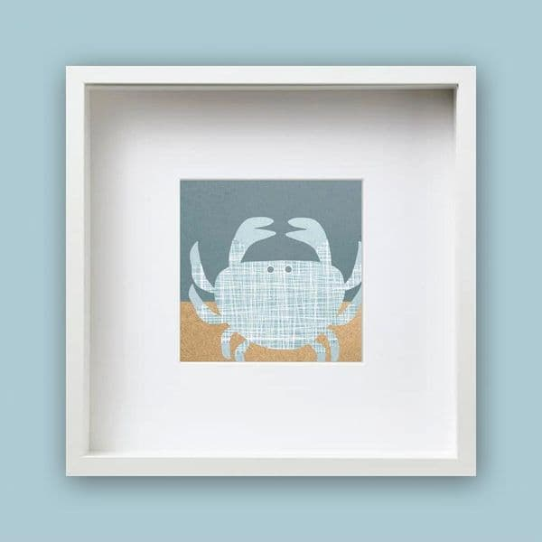 Teal Crab Framed Print   Jo Thearle