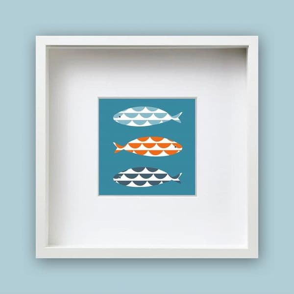Wave Fish Framed Print | Jo Thearle