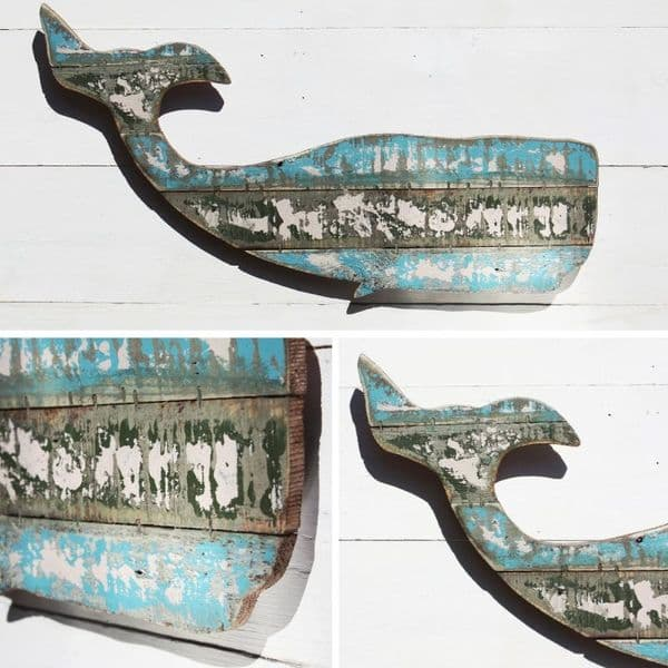 Whale Wall Art Decoration | Wooden Whale