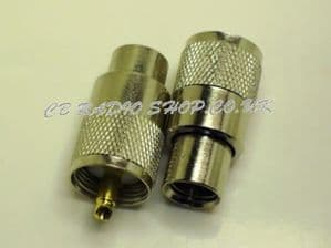 PL259 9mm, coaxial cable plug, suitable for rg213 coax.