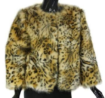 1. Aex Max Faux Fur Jacket - Animal Print  - From Florence, Italy
