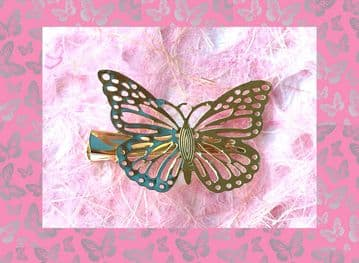 1. AL0090 - gold butterfly hair slide
