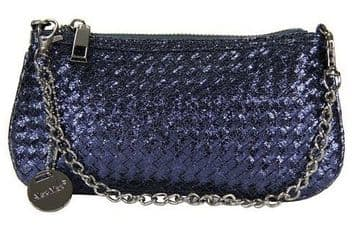 1. Alex Max Stylish PU Clutch - Navy -  From Florence, Italy