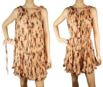 1. ConMiGo B602 flora pleated top/mini dress