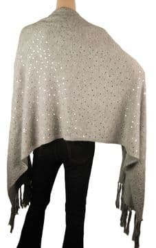 1. ConMiGo CD810 Glamorous Party Sequins Angora Wrap