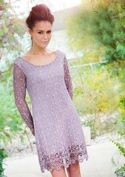 1. Goose Island goITT375 - Flattering lace dress  - Dusky Pink - Made in Italy