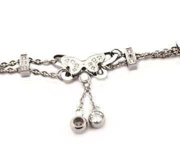 1. HB00010 - Silver Stainless Steel Bracelets with sparkling crystals