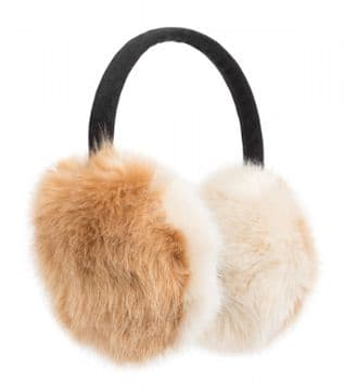 1. Pia Rossini Lola Ear Muff - nature brown and beige