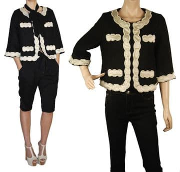1.C001 pearl embroidered classic jacket