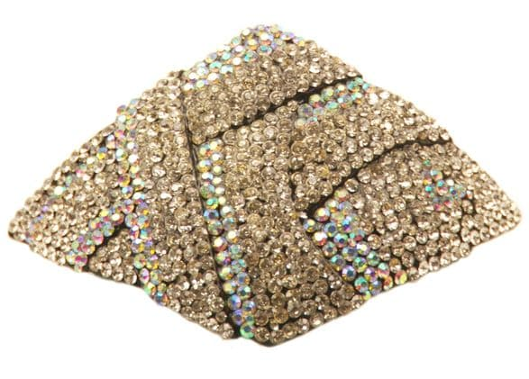1.EA10210 silver sequined crystal embelished hair clip
