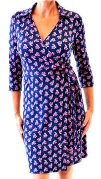 1a. N & Willow Collar Wrap Date Dress - Bud Berries - Made in Italy