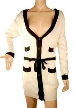 a.ConMiGo - Long white Cotton Cardigan