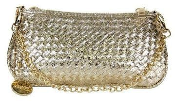 Alex Max Stylish Clutch -Gold -  From Florence, Italy