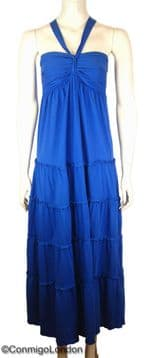 Con Mi Go London Maxi Jersey Dress - Blue