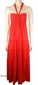 Con Mi Go London Maxi Jersey Dress - Rosso