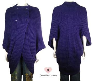 ConMiGo 214 Wool Coat  - Purple