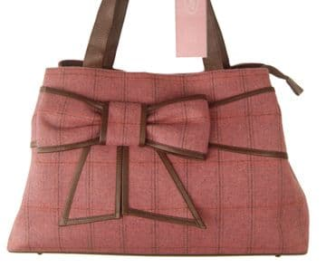 Country Cognac British Tweed and Real Leather Bag – The Bow Shopper