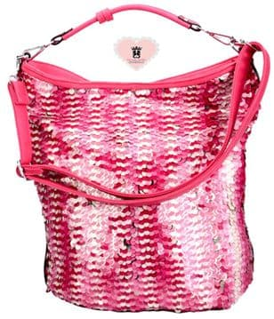 Millan 7132 Sparkling Embroidered Bag -  Fuchsia