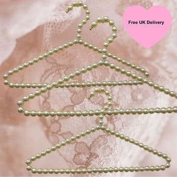Premium quality strong 40cm metal hangers covered in luxurious faux pearl beads / Used