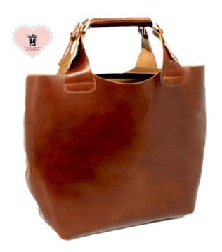 Real Italian Leather 2 bags in one - Brown