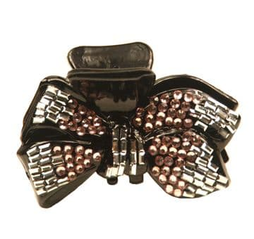 SOHA32 sequined jaw hair clip - peach and silver
