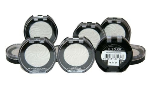 12 x Maybelline Colorshow Mono Eyeshadow | Tiffany's White 12 | RRP £59.88