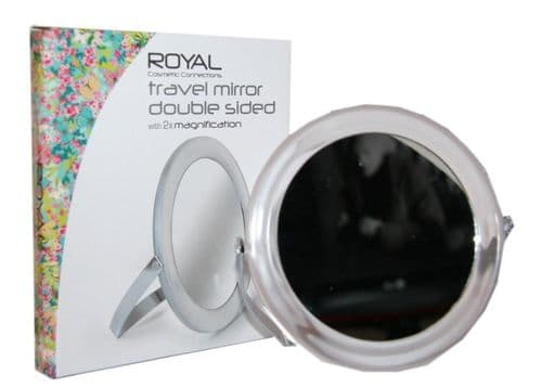 12 x ROYAL Travel Mirror Double Sided with 2 x Magnification | New | Wholesale |