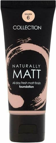 6 x Collection 2000 Naturally Matt Foundation  | Golden | RRP £36 | Wholesale