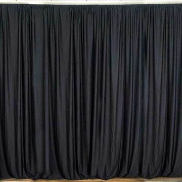1 Pair Black Dimalan Drapes