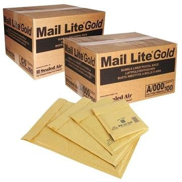 Bubble Lined Bags - Mail-Lite Gold C0 (150x210mm) / Pack of 100