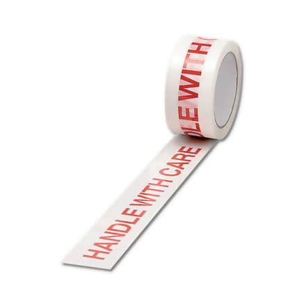 HANDLE WITH CARE Tape Polypropylene 50x66m / Pack of 6