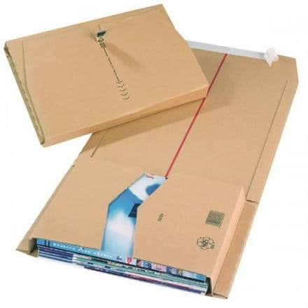 Jiffy Book Wrap Mailing Boxes - Brown 270x190x80mm / Pack of 20