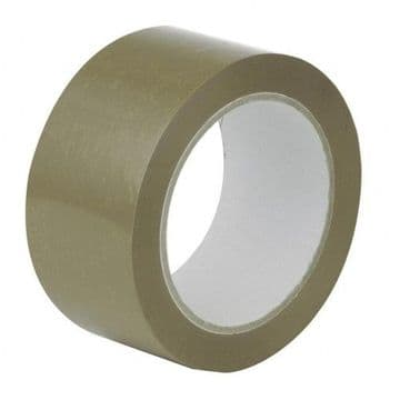 Vinyl Adhesive Tape - Brown<br>Size: 48mmx66m<br>Pack of 6