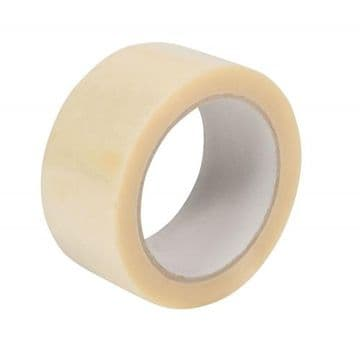 Vinyl Adhesive Tape - Clear<br>Size: 48mmx66m<br>Pack of 36