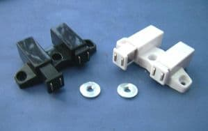 1,2,4 &10 pack DOUBLE Push Touch SQUARE Magnetic CATCH. BLACK & WHITE
