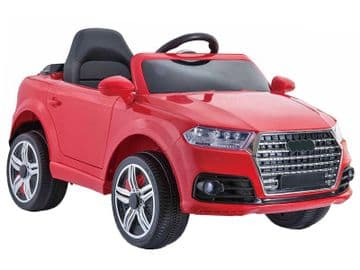 12v Audi Q7 Style Red Jeep Ride On Electric Toy Car With Remote Control