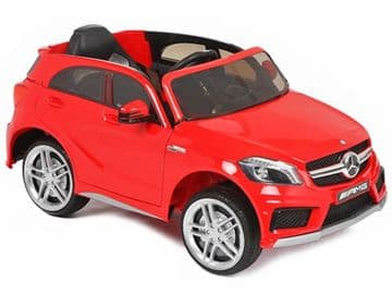 12v Electric Ride on Car Official Mercedes A45 AMG Licensed Model in Red with Parental Control