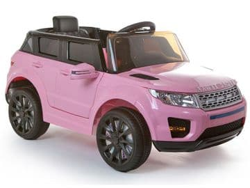 12v Range Rover Evoque Style Pink Jeep Ride On Electric Toy Car With Remote Control