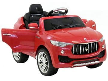 6v Electric Ride on Car Maserati Levante Official Licensed Model Red with Parental Control