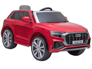 Audi Q8 Quattro SUV Licensed 12v Electric Ride on Car Red with Parental Control