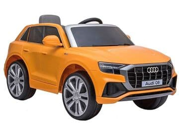 Audi Q8 Quattro SUV Yellow Licensed 12v Electric Ride on Car with Parental Control