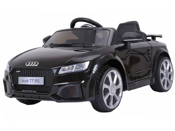 Audi TT RS Black Official Licensed 12v Electric Ride on Toy Car with Parental Control